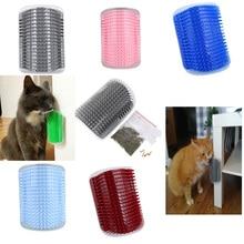 Инструмент для самостоятельного ухода за шерстью для домашних животных, кошек, щетка для удаления волос, расческа для собак, кошек, обрезка волос, массажное устройство для кошек С Кошачьей Мятой