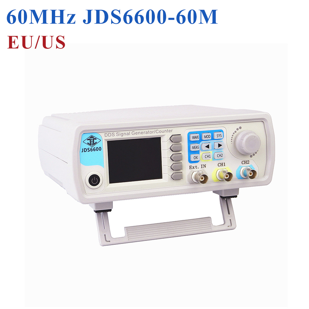 JDS6600 Digital Dual-channel DDS Function Signal Generator Arbitrary Waveform Pulse Signal Generator 50MHz Frequency Meter mhs 5212p power high precision digital dual channel dds signal generator arbitrary waveform generator 6mhz amplifier 80khz