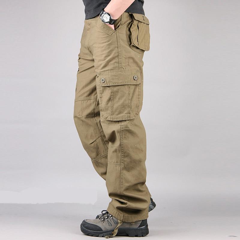 Men s Cargo Pants Mens Casual Multi Pockets Military Large size 44 Tactical Pants Men Outwear Men's Cargo Pants Mens Casual Multi Pockets Military Large size 44 Tactical Pants Men Outwear Army Straight slacks Long Trousers