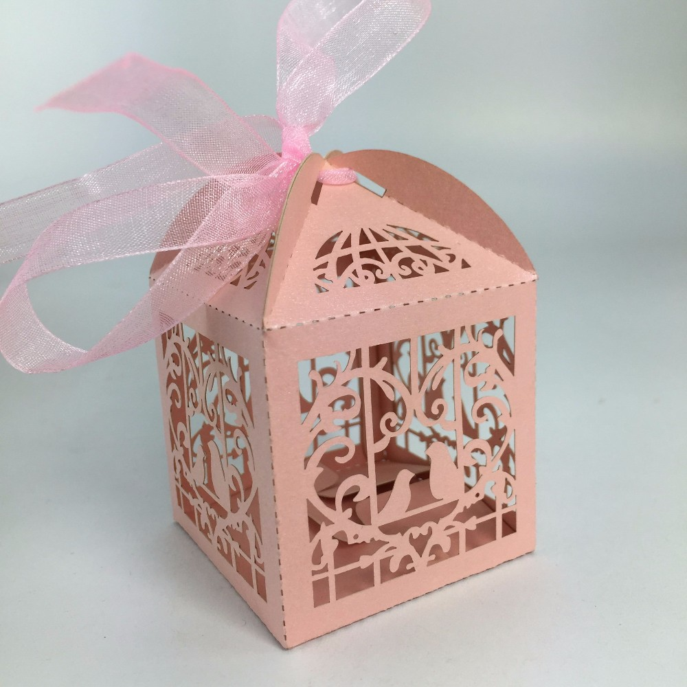 paper bird cage gold wedding candy bar boxes for guests,Wedding door ...
