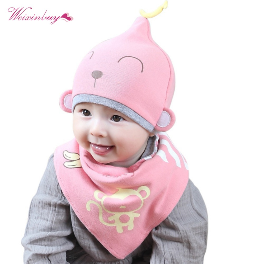 4f9604ead4ad WEIXINBUY 9 Styles Kids Toddler Child Baby Boys Girls Sleep Hat Cap+ ...