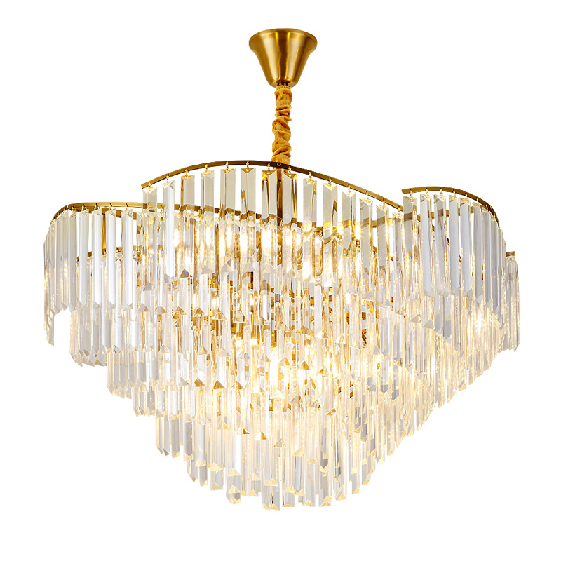 luxury design crystal lamp modern chandelier lighting AC110V 220v lustre LED dining room chandelier foyer lights