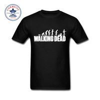 2017 Newest Fashion Funny Walking Dead Funny Cotton T Shirt For Men