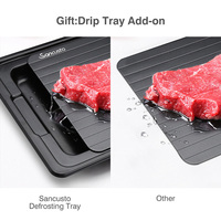 Fast defrosting tray with cleaner