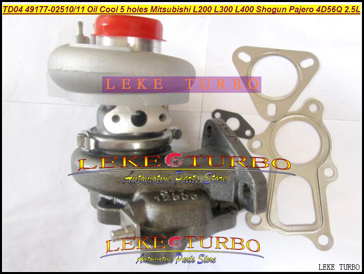 Free Ship TD04 49177-02510 49177-02511 Turbo For Mitsubishi L200 L300 L400 SHOGUN Pajero 90- 4D56Q 2.5L Oil Cool + Outlet 5 hole футболка print bar shogun assassin