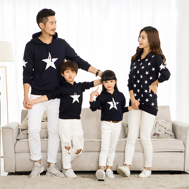 0ac3c093 Family Matching Clothes Outfits Mom Dad Daughter Son Matching Sweatshirts  2019 Family Look Hoodies Long Sleeve