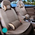 HQ 5 Sets Car Full Seat Cover Summer Cooling Car Cushion Protector Mat Seat Covers Pocket Design Suit for Car with 5 Seats