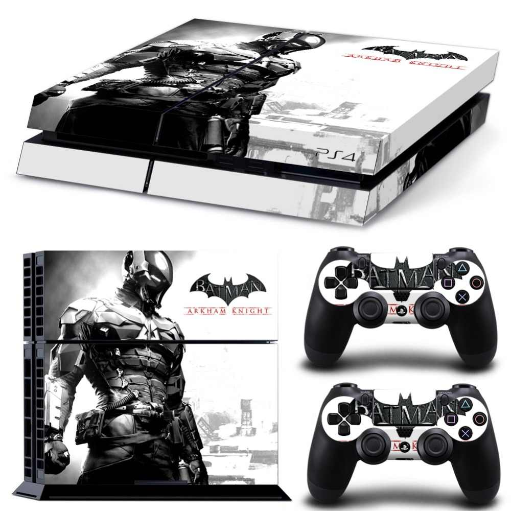 Batman Decal Skin For PS4 Console Cover For Playstaion 4 Vinyl Skin Controle Stickers+ 2Pcs Controller Protective Gamepad Skins