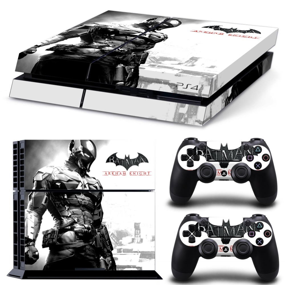 Batman Decal Skin For PS4 Console Cover For Playstaion 4 Vinyl Skin Controle Stickers  2Pcs Controller Protective Gamepad Skins