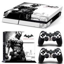 Наклейка с Бэтменом для консоли PS4, чехол для плейстейона 4, виниловые наклейки с контролем кожи + 2 Защитных джойстика