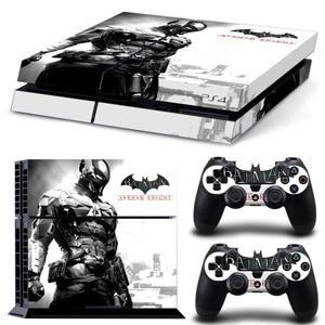 Image 1 - باتمان لصقة جلد صناعي ل PS4 وحدة التحكم غطاء ل Playstaion 4 جلد فينيل تحكم ملصقات 2 قطعة تحكم واقية غمبد