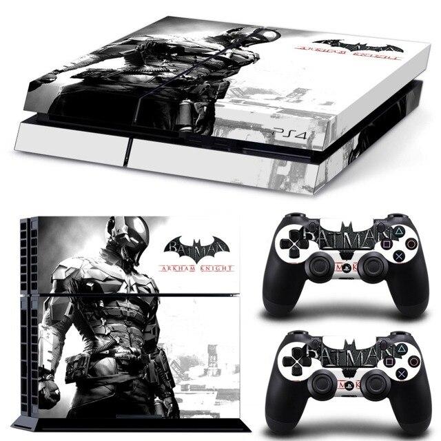 باتمان لصقة جلد صناعي ل PS4 وحدة التحكم غطاء ل Playstaion 4 جلد فينيل تحكم ملصقات 2 قطعة تحكم واقية غمبد