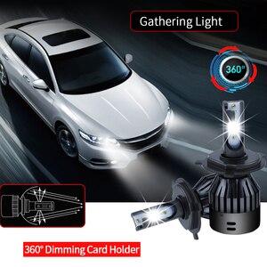 Image 5 - 6000 18k h4 ledヘッドライトh7 led電球 12v 9005 9006 hb3 hb4 D2 9004 9007 H13 H15 ヘッドランプhi/loビーム 6000lm 60 ワットcsp canbusなし無料