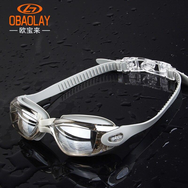 Adult Men Women Anti Fog Swimming Goggles Professional Electroplate Swim Glasses Eyewear
