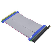 CHIPAL PCI-E 16X to 16X Riser Card PCIe X16 Extender Flexible Ribbon Extension Cable Adapter for Mining Machine(China)