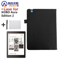 For KOBO Aura Edition 2 6 Inch E Book Protective Case Folio PU Leather Case Gift