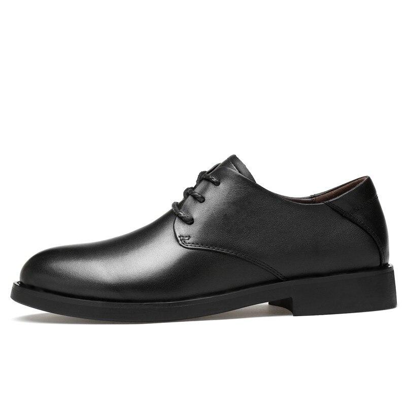d47d4c733dfc2a Hommes Luxe Chaussure Printemps Clax De Formelles Marque Robe Automne  Véritable Black Richelieus brown Chaussures Homme ...