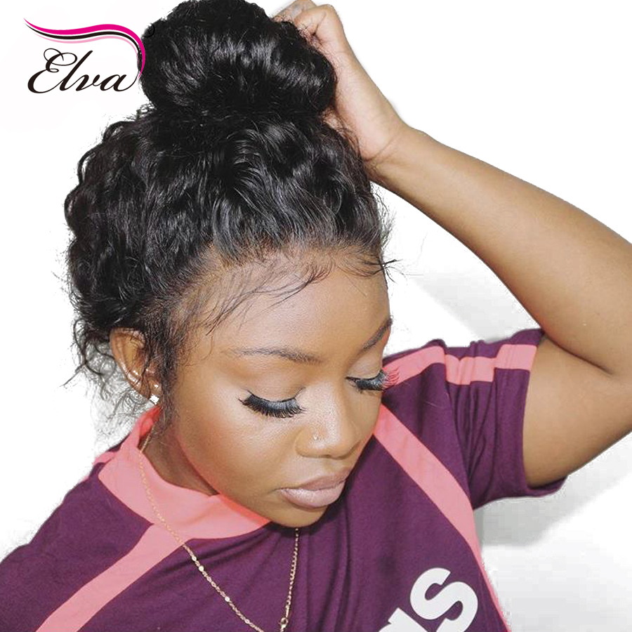 360 Lace Frontal Wigs With Baby Hair Pre Plucked Hairline Lace Front Human Hair Wigs For