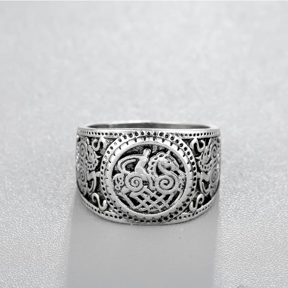 Bague Dragon argent  antique 2