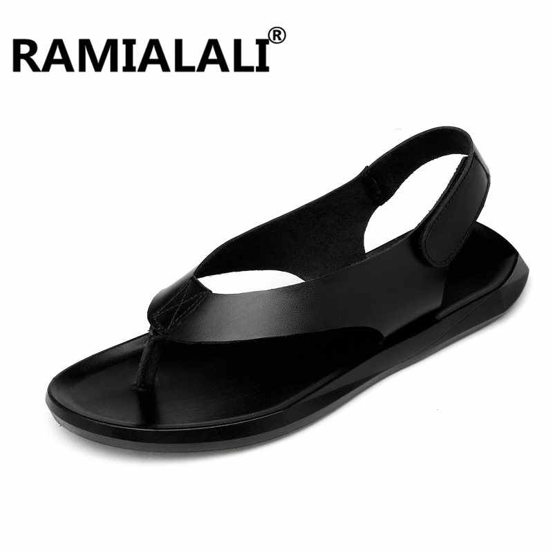 f0bbca63e3c22 Ramialali Mens Shoes Leather Men Sandals Summer Men Shoes Beach Breathable  Gladiator Sandals for Men Zapatillas