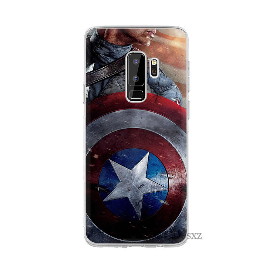 Phone Case Cover Marvel Hero Captain America Classic Paint For Samsung Galaxy J3 J5 J7 2016 2017 A5 A6 A8 Plus 2018 Note 8 9