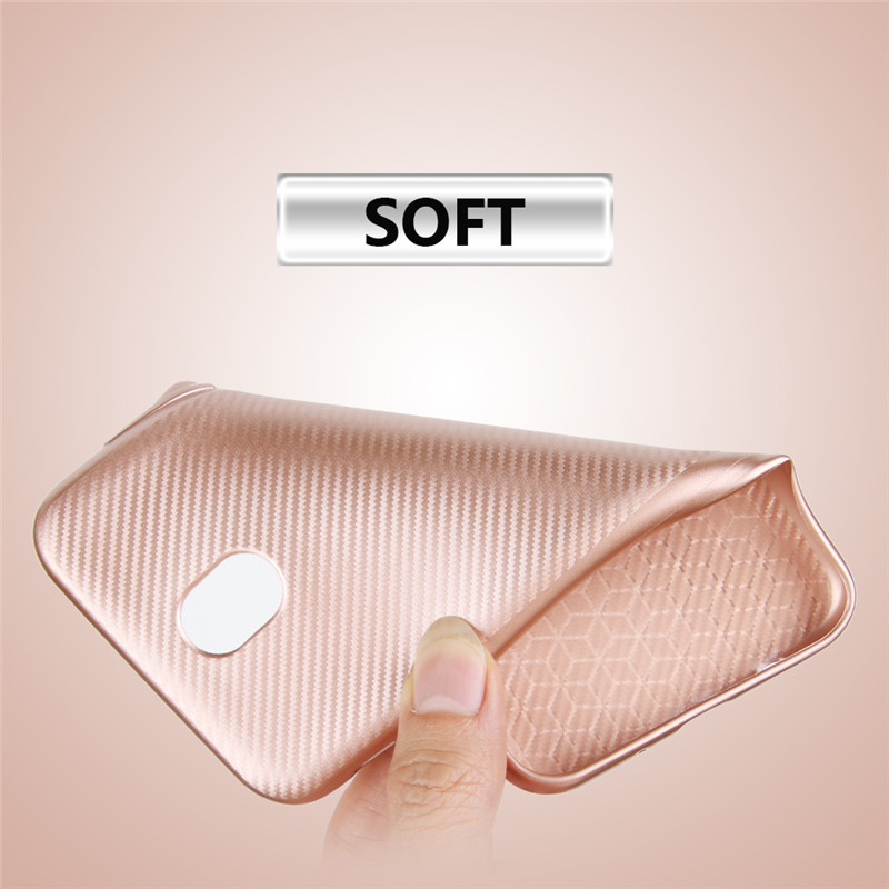 Phone Case For Samsung Galaxy J5 2017 Case Luxury Carbon Fiber Anti drop TPU Soft Cover For Galaxy J530 Phone Case Galaxy J5 Pro in Fitted Cases from Cellphones Telecommunications