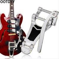 OOTDTY Guitar Vibrato Tremolo Bridge Tailpiece For LP Actop Chrome Hollowbody