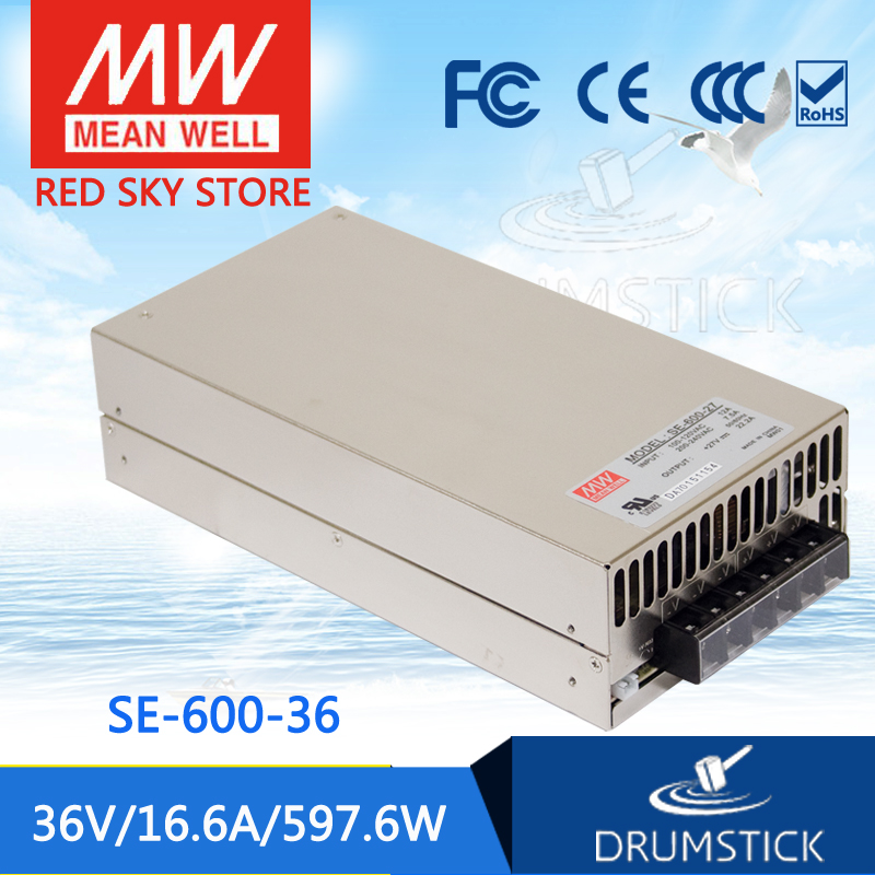 все цены на (Only 11.11)MEAN WELL original SE-600-36 (1Pcs) 36V 16.6A meanwell SE-600 36V 597.6W Single Output Power Supply онлайн