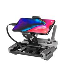 Metal dji controle remoto titular tablet suporte do telefone clipe base bandeja para dji mavic ar 2/pro/ar/mavic 2/mavic mini/faísca