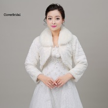 New Noble Modern Two Colors White Brown Fur Cape Mariage Jacket Women Winter Faux Fur Wraps