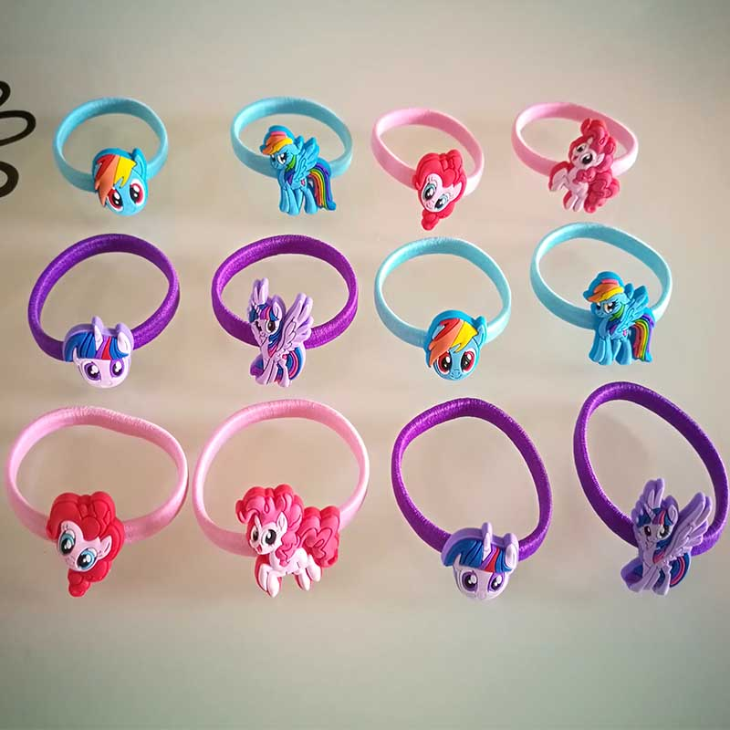 12 PCS/ set 2017 Fashion cute girls hair accessories elastic hair bands Child Rubber Band hair clip kids gifts Headwear T0010 12pc set elastic hair rubber band children hair unicorn headband kids hair accessories gril hair band set cute unicorn cartoon