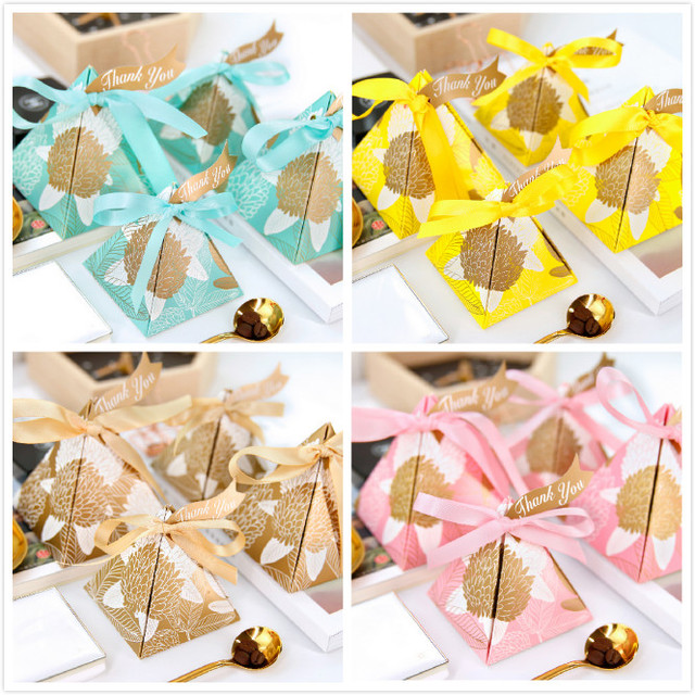 Wonderful 100pcs Pink Yellow Gold Blue Red Triangular Pyramid Leaves Wedding  WX34