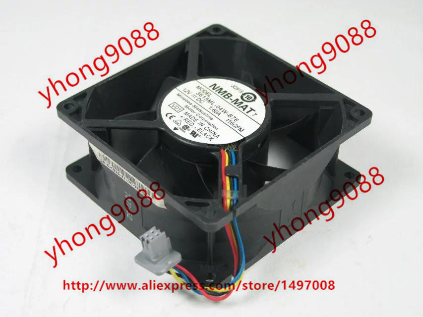 NMB-MAT 3615ML-04W-B76, V01 DC 12V 1.60A  4-pin   92x92x38mm Server Square  Fan nmb mat 3110kl 04w b49 b02 b01 dc 12v 0 26a 3 wire server square fan