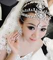 2015 Luxury rhinestone forehead tiara crystal waterdrop bridal hair jewelry hairbands wedding hair accessories