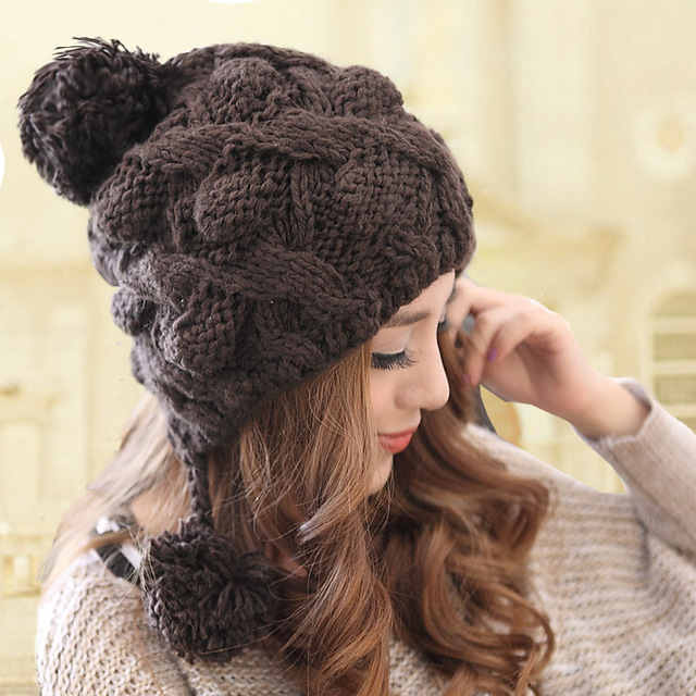 c1593507632 Women s autumn and winter tide hat female fashion lovely warm wool hat  screw cap Europe and