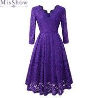 Cocktail Dresses elegant formal party dress A Line V Neck lace Women 2019 Short Vestidos Sexy Purple Women Homecoming Dresses