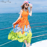Women Boho chic mexican dress hippie ethnic style dress clothing bohemian holiday beach female sexy dresses Q393