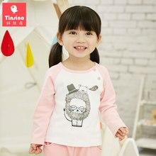 Tinsino Children Boys Girls Autumn Cartoon T-Shirts Infant Baby Spring Fashion Long Sleeve Tops Clothing Kids Girls Cute T shirt