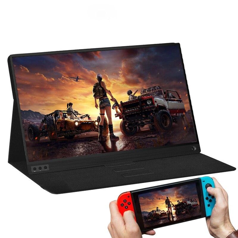 15.6 pouces LCD moniteur Portable ultra mince 1080P IPS HD USB type C affichage pour ordinateur Portable téléphone XBOX commutateur et PS4 moniteur de jeu - 4