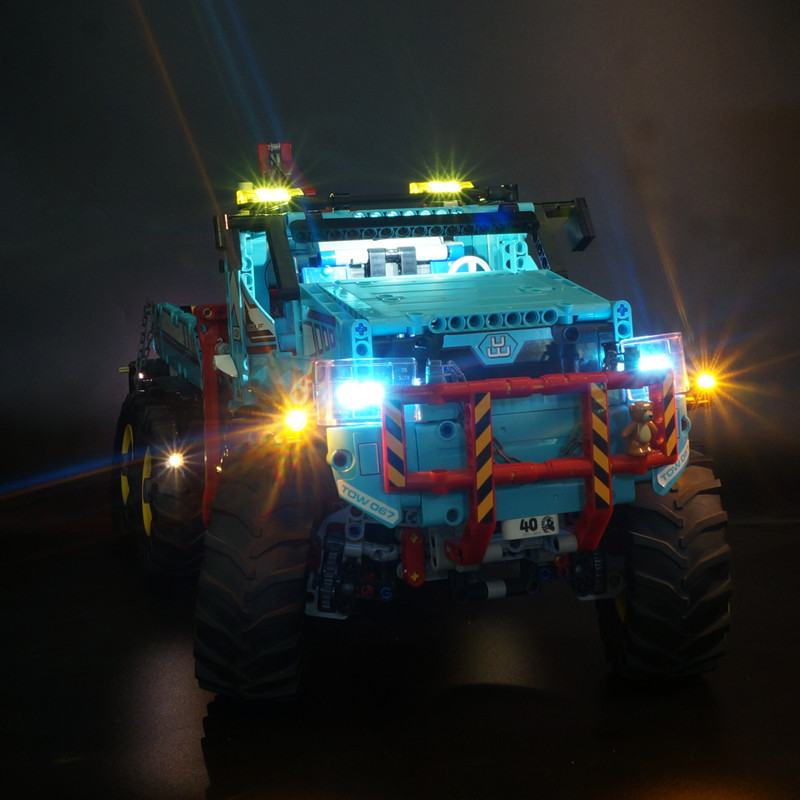 Kyglaring led light kit for <font><b>lego</b></font> <font><b>42070</b></font> Technic Series The Ultimate All Terrain 6X6 Remote Control Truck (only light included) image