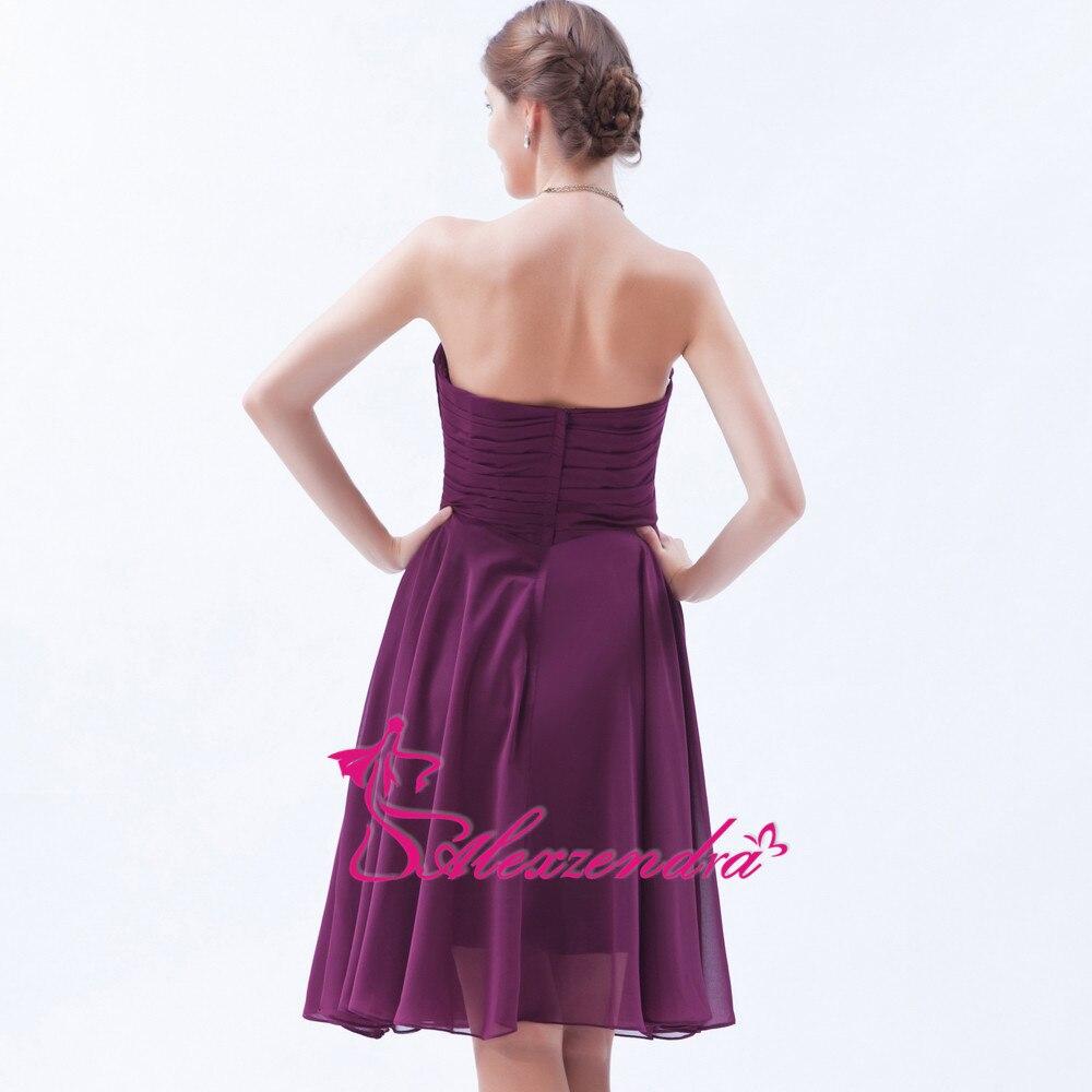 Alexzendra Mousseline de Soie Mini Pourpre Sans Bretelles Robes De Bal 2018  Une Ligne Simple Robe de Soirée Plus La Taille dans Robes de bal de  Mariages et ... 34702492894