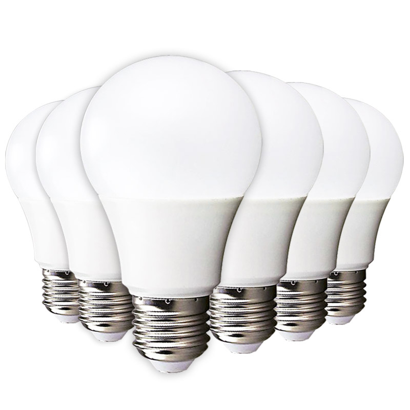 6pcs LED Bulb E27 E14 3W 5W 7W 9W 12W 15W 220V-240V Smart IC High Brightness LED Lampada Bombilla Ampoule Cold White Warm White no flicker led bulb e27 9w led lamp 15w ac 220v 230v 240v cold white warm white lampada ampoule bombilla led