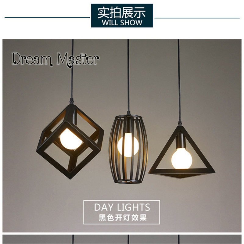 Nordic restaurant lights three creative clothing shop window bar bedroom single head small hanging lamps nordic retro industrial iron chandeliers creative personality clothing shop coffee restaurant three single head bar led fixture