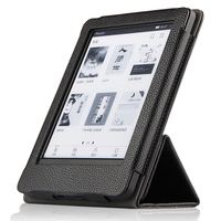 High Quality Real Genuine Leather Mangetic Stand Cover Protective Shell Case For Amazon Kindle 2016 8th