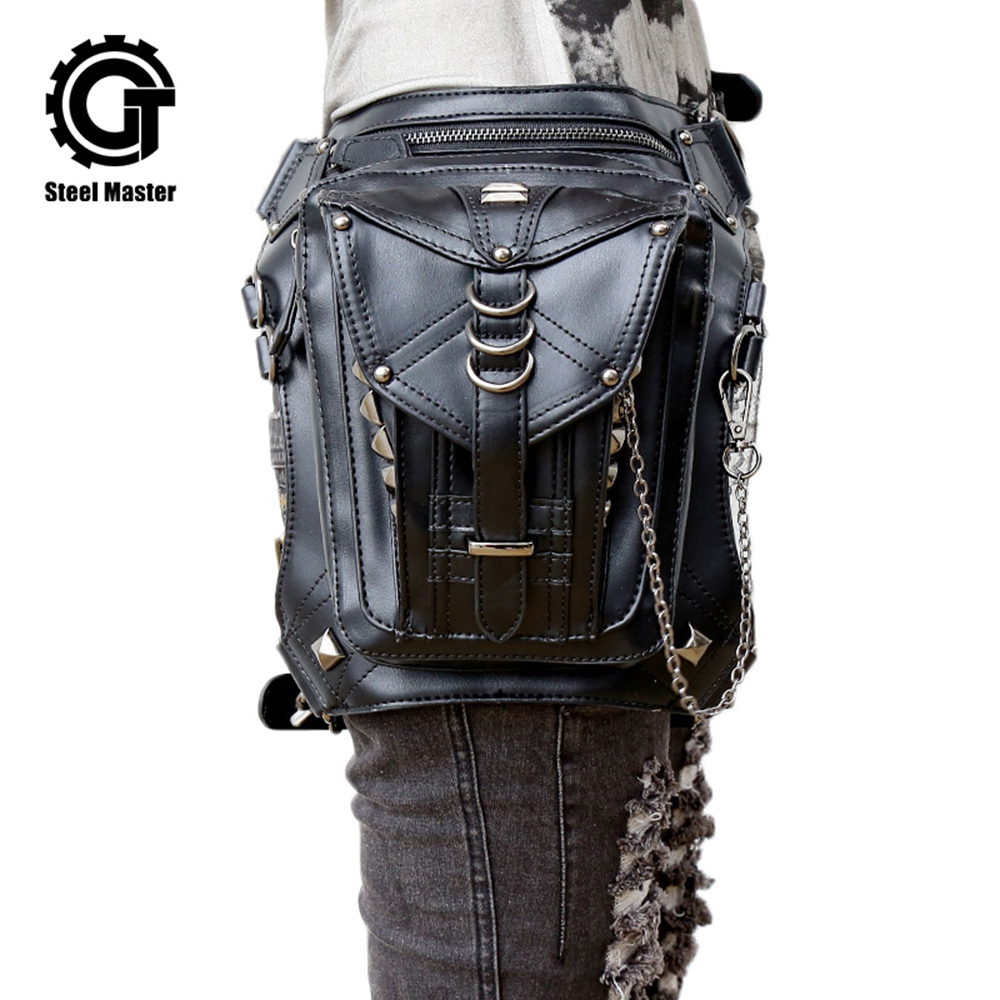 Steam Punk Leg Bag Gothic Waist Leg Leg Bag For Women Women Cross Body Messenger Leg Bag Bag Retro Rock Shoulder Leg Bag 2018 Տաք վաճառք