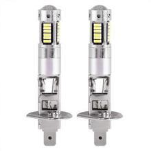 Adeeing 1 пара 12 В H1 4014 30SMD светодиодный Белый Автомобильный противотуманный фонарь 6500 K лампы алюминиевые авто фары, аксессуары для автомобиля
