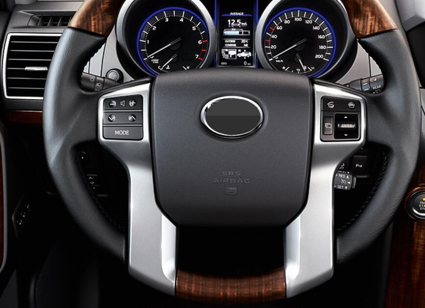 Для Toyota Land Cruiser Prado 150 LC150 FJ150 2010-2017 Interno дель Volante Copertura отделкой хром стайлинга автомобилей Accessori