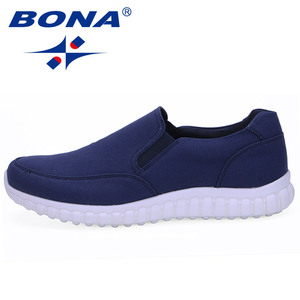 Image 3 - BONA New Typical Style Men Canvas Shoes With Elastic Band Men Footwear EVA Outsole Comfortable Shoes Light Fast Free Shipping