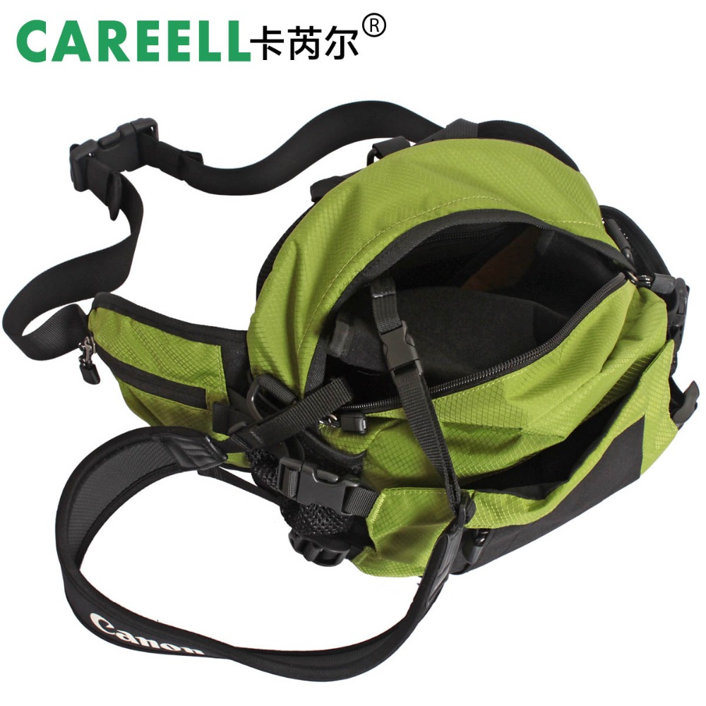 hot sale CAREELL C1314 outdoor photoshot waist pack waterproof slr camera bag ride bag in Camera Video Bags from Consumer Electronics