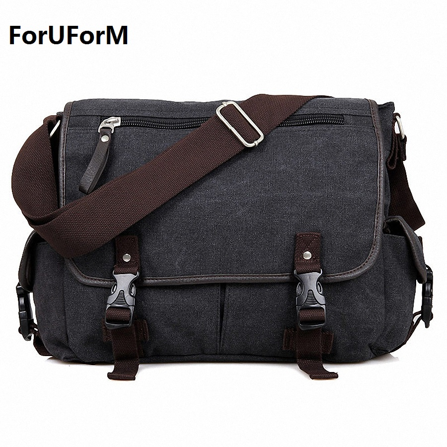 Vintage Crossbody Bag Canvas shoulder bags Men messenger bag men casual Handbag 14 inch laptop Briefcase Leisure bag LI-1614 vintage crossbody bag dark khaki canvas shoulder bags men messenger bag man casual handbag tote business briefcase for computer